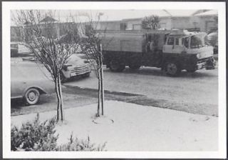 Photo 1957 Ford COE Truck & 1948 Chevrolet Chevy Pickup Truck in Snow
