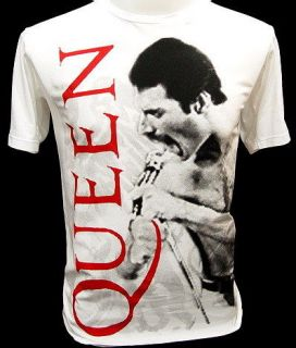 queen freddie mercury rock concert tour retro t shirt m