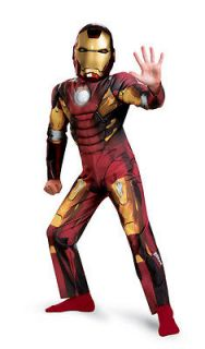 Avengers Iron Man Child Muscle Costume Medium (7 8)   Ships Worldwide