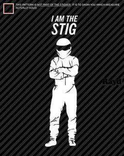 Am The Stig Vinyl Sticker Car Decal Laptop Top Gear JDM Euro Touring