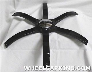Double G Milos 24 In Wheels Black Custom Wheel Center Cap Set 4