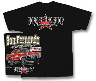 57 Chevy Hot Rat Rod Classic Car Tee Shirt Solo Speed Chevrolet