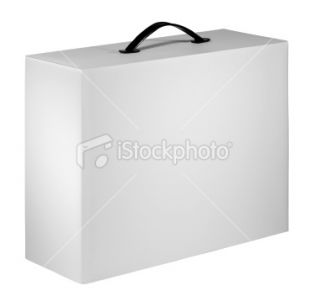 Blank device packing cardboard box Royalty Free Stock Photo