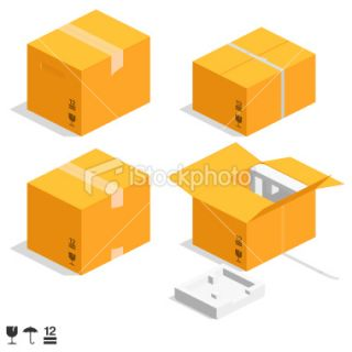cardboard boxes Royalty Free Stock Vector Art Illustration