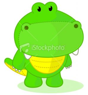 Crocodile Cartoon Royalty Free Stock Vector Art Illustration