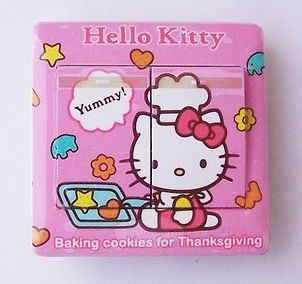 us08 furniture light switch panel sticker hello kitty time