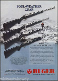 STURM, RUGER .All Weather RIFLE AD M77 Mark II~77/44~10/22~.223 Ranch