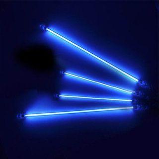 Blue 4 Piece CCFL Cold Cathode Undercar Underbody Lamp Car Neon Kit