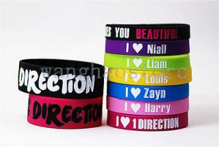 9X Cool UK Super Star ONE DIRECTION SILICONE WRISTBAND BRACELETS Big