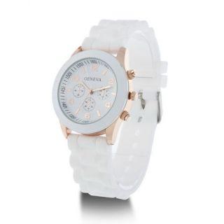 Unisex Geneva Silicone Jelly Gel Quartz Analog Sports Wrist Watch