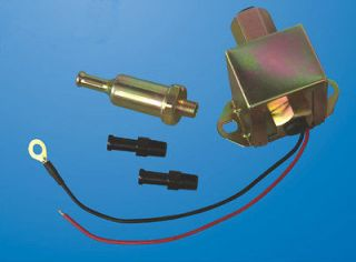 ELECTRIC FUEL PUMP UNIVERSAL 12V 6 to 9 PSI 29GPH with FITTINGS