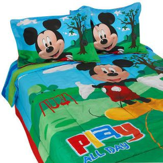 Mickey Mouse Clubhouse FULL/Double Comforter Sheets Shams Bedskirt 9