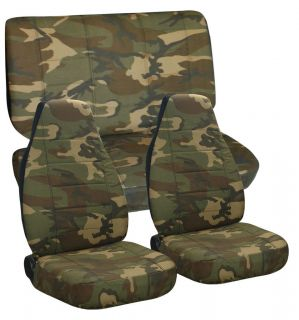 Jeep wrangler TJ army camo #31 front+rear car seat covers,cotton