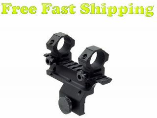 Ruger Mini 14 Scope Mount with 1 Scope Rings Picatinny / Weaver Rail