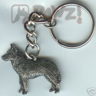 siberian husky dog pewter keychain key chain ring new time