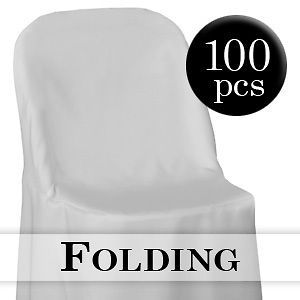 Newly listed 100 White Folding Chair Cover Wedding Party Decorations