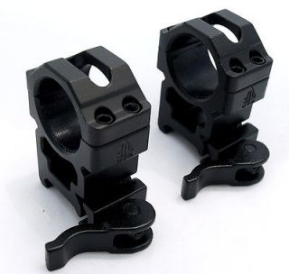 UTG 1 SCOPE RINGS QD LEVER LOCK TACTICAL HIGH PROFILE WEAVER