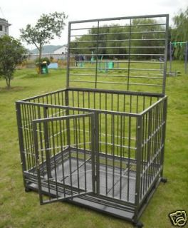New 36 Heavy Duty Level III Dog Pet Cat Bird Crate Cage Kennel HS