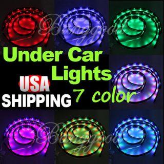 LED Underbody Underglow Under Car Neon Light Kit w. 4 Tubes, 126 LEDs