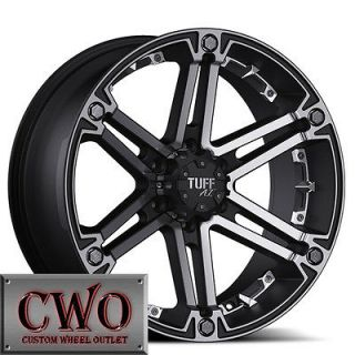 Newly listed 17 Black Tuff T 01 Wheels Rims 6x139.7 6 Lug Tundra Titan