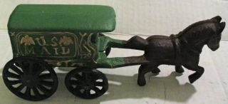 reproduction cast iron horse us mail wagon 128  11 99 buy