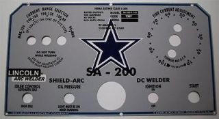 Lincoln Electric Welder SA 200, L 5171 Dallas Cowboy Control Plate