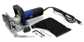 ELECTRIC BISCUIT JOINER KIT 4 inch BLADE, DUST BAG, CASE ADJUSTABLE