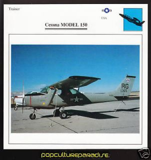 cessna model 150 usa airplane atlas picture spec card from canada time