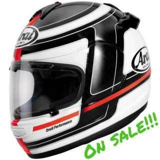 Arai Vector 2 Launch Motorcycle Full Face Helmet Black White Red