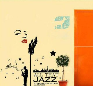 Newly listed B Marilyn Monroe Style Jazz Singer Wall Decor STICKER