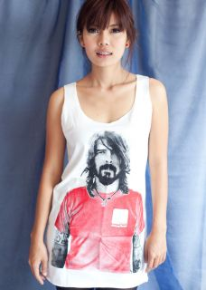 Dave Grohl Foo Fighters US POP ART Retro WOMEN T SHIRT DRESS Tank TOP