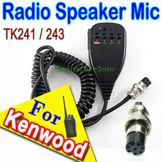 Car Mobile PTT Speaker Mic for KENWOOD Radio Microphone TK241 TM 243