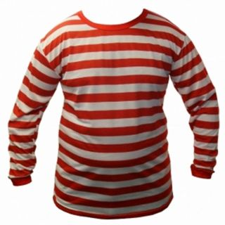 Red and White StripeTshirt Tutu Hat Socks Glasses Nerd Wally Fancy