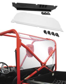 Quadboss UTV Rear Shield Back Panel Honda MUV700 Big Red 2009 2010
