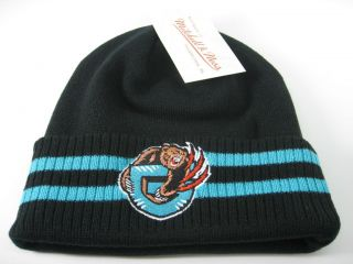 New NBA Vancouver Grizzlies Beanie Mitchell & Ness Black Cuffed Knit
