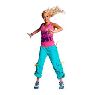 Authentic New Zumba Fusion Cargo pants Navy, Purple, Ceramic, Coral