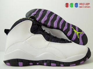 NIKE GIRLS AIR JORDAN 10 RETRO (GS) SZ 6Y WOMENS SZ 7.5 [487211 120]