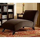Bella Chaise Dark Brown Lounge Chair Sofa Couch Living Room Office