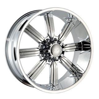 26 DW 903 Chrome Wheels Rims 315 40 26 Tires 8 lug Hummer H2 Ford