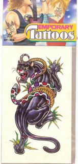 large temporary tattoo black panther for costume time left $