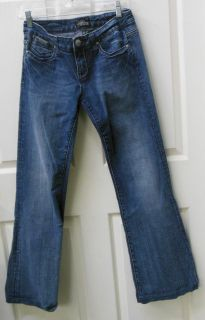 rerock for express womens stretch flare jeans size 6 time