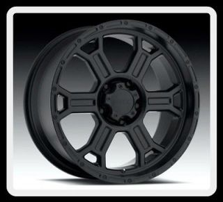 17 X 9 V TEC 372 RAPTOR 17 INCH BLACK 5X5 5X127 JEEP WRANGLER WHEELS