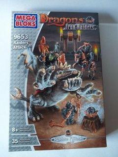 mega bloks dragons iron raiders attack 9653 new sealed box