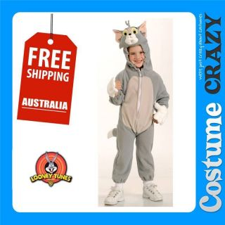 LICENSED TOM & JERRY   TOM CAT BOYS TODDLER CHILD FANCY DRESS