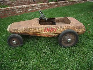 Newly listed vintage pedal car..rare pedal car ..indyindus​trial