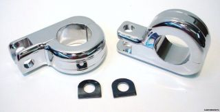 chrome foot peg mounts for harley engine guard highway time