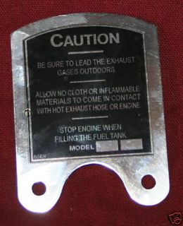 maytag engine model 92 caution plate new repro time left $ 19 99 buy