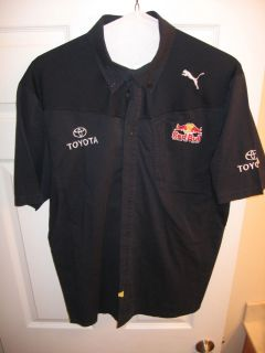 Used 2XL Team Issued Red Bull Racing Puma Pit Crew Shirt Nascar F1 MX