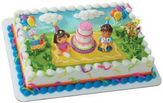 DORA THE EXPLORER AND DIEGO BIRTHDAY CELEBRATION CAKE TOPPER