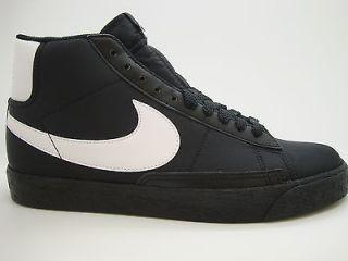 315877 004] Mens Nike Blazer High Black White Canvas Casual Athletic